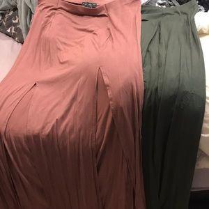 Forever 21 Skirts - Three maxi double split skirts